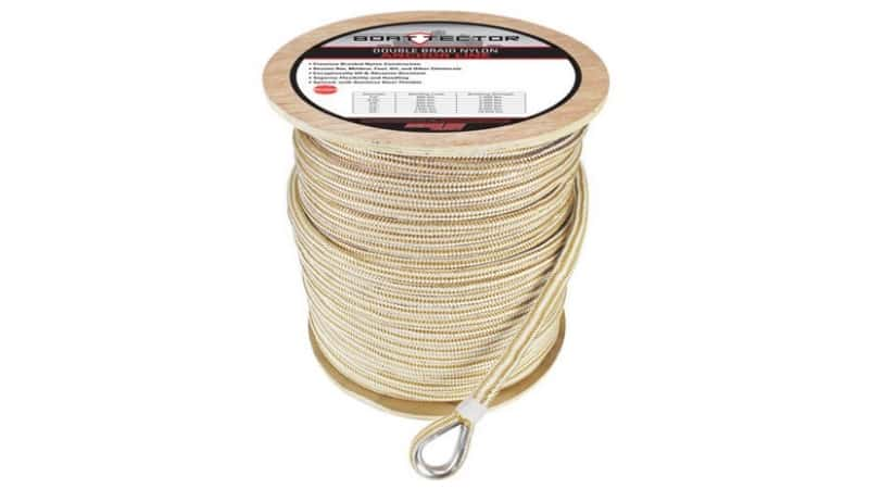 Extreme Max White & Gold Double Braid Nylon Anchor Line